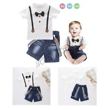Kids BABY Boys Short Sleeve T-shirt + Shorts Jeans Casual Outfits Clothes 2PCS
