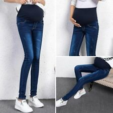 Fashion Wome's Maternity Jeans Pregnant Clothes Prop Jeans Denim Elastic Pants
