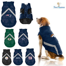 NFL Fan Gear Dog Puffer Vest Jacket Coat Fleece Lined for Dogs -PICK YOUR TEAM