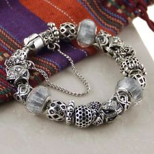 European charms Pando style Bracelet, European Metal beads, Many color choices