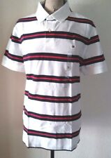 NWT Tommy Hilfiger Men Custom Fit Stripe Mesh Short Sleeve Polo Shirt Size L