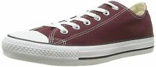 Converse Unisex Chuck Taylor All Star Ox Low Top Classic Burgundy Sneakers - 10