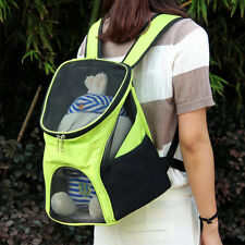 Pet Cat Dog Mesh Backpack Cycling Carry Carrier Shoulder Bag Outdoor Travel Tote