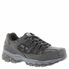 Skechers Work Relaxed Fit Crankton ST Mens Steel Toe Sneakers Black/Charcoal