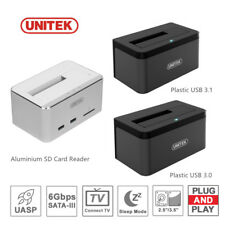 "UNITEK USB Hi-Speed HDD SATA 2.5""/3.5"" Docking Station Dock Hard Drive Enclosure"