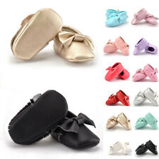 0-18M Baby Kids Tassel Soft Sole Leather Shoes Infant Boy Girl Toddler Crib HOT