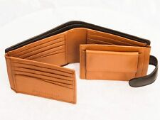 NEW ✠ MENS fourfold ✠ 20 Card slots ✠ with coin purse ✠ Real Leather wallet