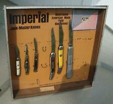 50's Imperial Pocket Knife Country Store Counter Advertising Display w 6 Knives