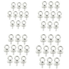 10x 925 Sterling Silver Pearl Bails Charms Pendant Connetcor For Jewelry Making