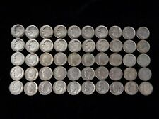 Mixed Lot of 50 Silver Roosevelt Dimes - Nice US Coins - #3002