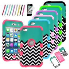 iPod Touch 4th Gen -HARD & SOFT RUBBER HIGH IMPACT ARMOR CASE HYBRID COVER SHELL