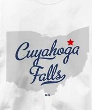 Cuyahoga Falls, Ohio OH MAP Souvenir T Shirt All Sizes & Colors