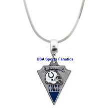 NFL Indianapolis Colts Team Logo 925 Sterling Silver Snake Chain Necklace 5Sizes