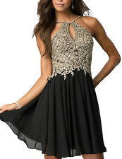 New Arrival Short Prom Dress Halter Chiffon Homecoming Dresses Formal Party Gown
