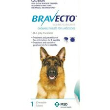New Bravecto chewable large dog 20-40kg  9322839022680 Pet