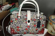 COACH MERCER SATCHEL 24 IN MULTI FLORAL PRINTED LEATHER NWT $350 57703