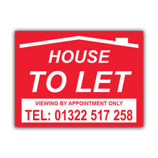 House To Let Correx Sign Boards Estate Agent Property Signs X 2 (CORCP00043)