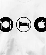 Mac Eat Sleep Play Apple Computer Obsession Geek T Shirt All Sizes & Colors