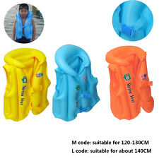 Kid Adult Inflatable Sea Swimming Pool Vest Float Aid Jacket Swim Training #VFR