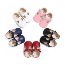 Infant Toddler Baby Girl Soft Non-slip Buckle Sole Dress Shoes Newborn to 0-18 M