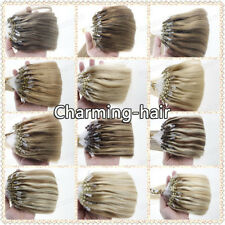 Micro Ring Beads Loop Remy Human Hair Extensions Balayage Ombre Two Tones 7A1g/s