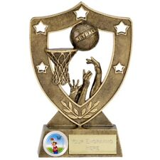 NETBALL Trophy FREE ENGRAVING Personalised Engraved Shield Award NEW