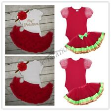 Newborn Infant Baby Girls Christmas Outfits Romper Tutu Skirt Xmas Party Dress