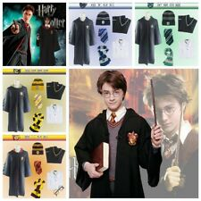 Unisex Harry Potter Cosplay Costume Full Set Cloak+Shirt+Tie+Hat+Sweater+Scarf