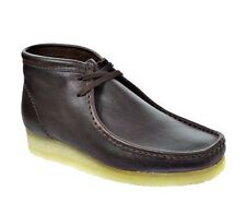 Clarks Originals Wallabee Brown Leather Mens Casual Ankle Boots 26103668