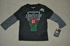 Under Armour Boys LIGHT IT UP Glow in the Dark Basketball Christmas T-Shirt NWT
