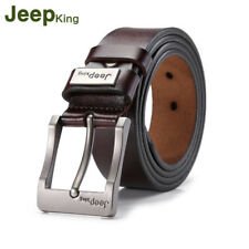 New Mens Waist Band Genuine Leather Girdle Buckle Pin Waistband Waist Strap Belt