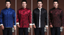hot Double-face Traditional Chinese Men's silk Kung Fu Party Jacket/Coat M-3XL