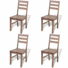Wooden Dining Room Chairs Rustic Kitchen Seats Restaurant Cafe Bistro Brown 4pcs