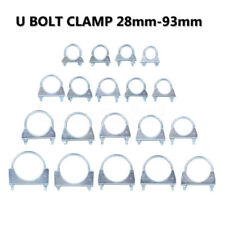 Universal Auto Repair Pipe Hose Exhaust U Bolt Clamp TV Aerial Clamps 28mm-92mm