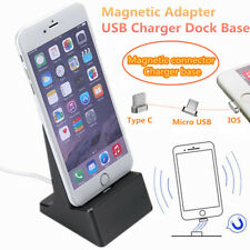 Magnetic Desktop IOS/Type C/Micro USB Charging Stand Dock Station Sync Cradle