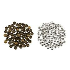 100pcs 8mm Punk Rivets Metal Bullet Studs Cone Spike Spots Belt Leathercraft