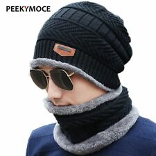Knitted Winter Hat Scarf Beanies Knit Men's Winter Hats Caps Skullies Bonnet For