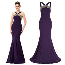 MERMAID Evening Dress Backless Long Gown Formal Celebrity Bridesmaids Party ST