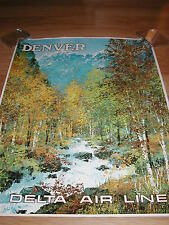 DELTA AIRLINES POSTER  TO DENVER ORIGINAL LAYCOX