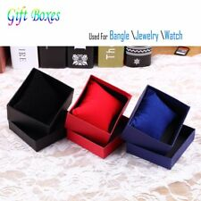1/5PCS Present Gift Boxes Case For Bangle Jewelry Ring Earrings Wrist Watch BoVX