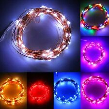 20-200LED Solar / Battery Powered Outdoor Xmas LED Fairy Lights String Party NZ
