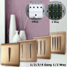 1/2 Way 1/2/3/4 Gang Wall Light Switch Panel Push Buttons With Luminous Design