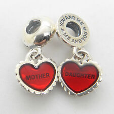 Authentic Genuine S925 Sterling Silver MOTHER DAUGHTER DANGLE CHARM