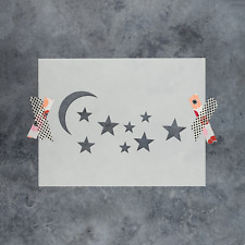 Moon And Stars Stencil - Reusable Stencils of Moon And Stars - Made in USA!