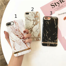 Luxury Hard Plastic Rose Gold Marble Print Phone Case For iPhone 6 6s 7 8 Plus