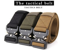 Men Canvas Belt Metal Insert Buckle Military Nylon Outdoor Tactical High Quality