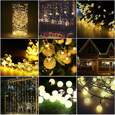 20-300 LED String Lights Christmas Indoor / Outdoor Lights Party Garden Decor