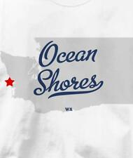 Ocean Shores, Washington WA MAP Souvenir T Shirt All Sizes & Colors