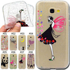 Protective Rubber TPU Soft Back Cover Glitter Clear Skin Case For Samsung Galaxy