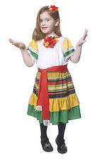 GIRLS KIDS MEXICAN GIRL SPANISH DANCER FANCY DRESS COSTUME OUTFIT AGE 4-6-8-12